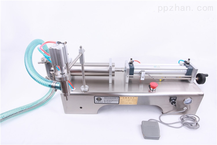 马奶酒半自动单头灌装机--食品级不锈钢灌装